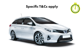TOYOTA AURIS HOURLY HIRE AUTO